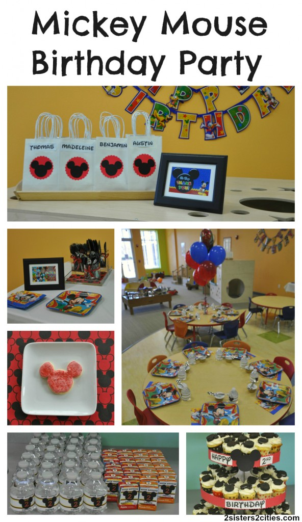 Mickey Mouse Birthday Party collage