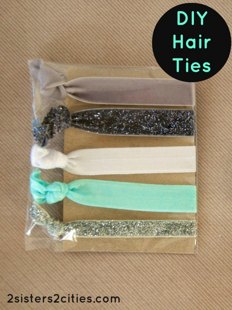 DIY Hair Ties from 2 Sisters 2 Cities