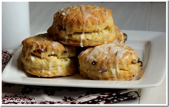 Plate of Cranberry Orange Scones