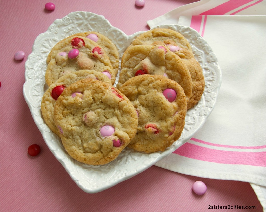 Valentine's Day M&M Cookies {from 2 Sisters 2 Cities}