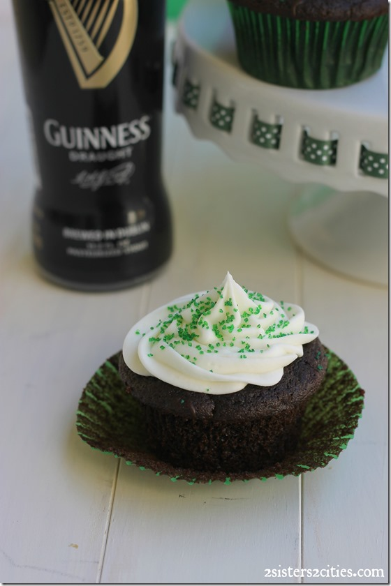 Chocolate Guinness Cupcakes with Cream Cheese Frosting