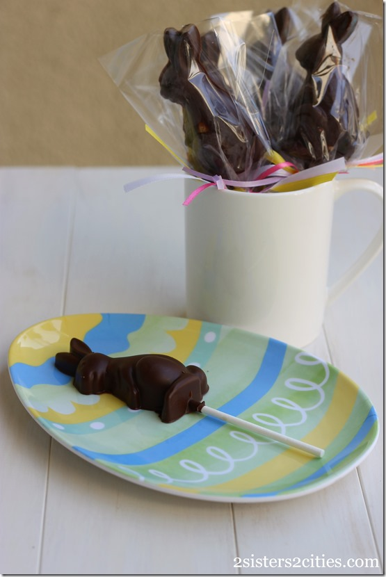 Peanut Butter-Filled Chocolate Bunny Pops