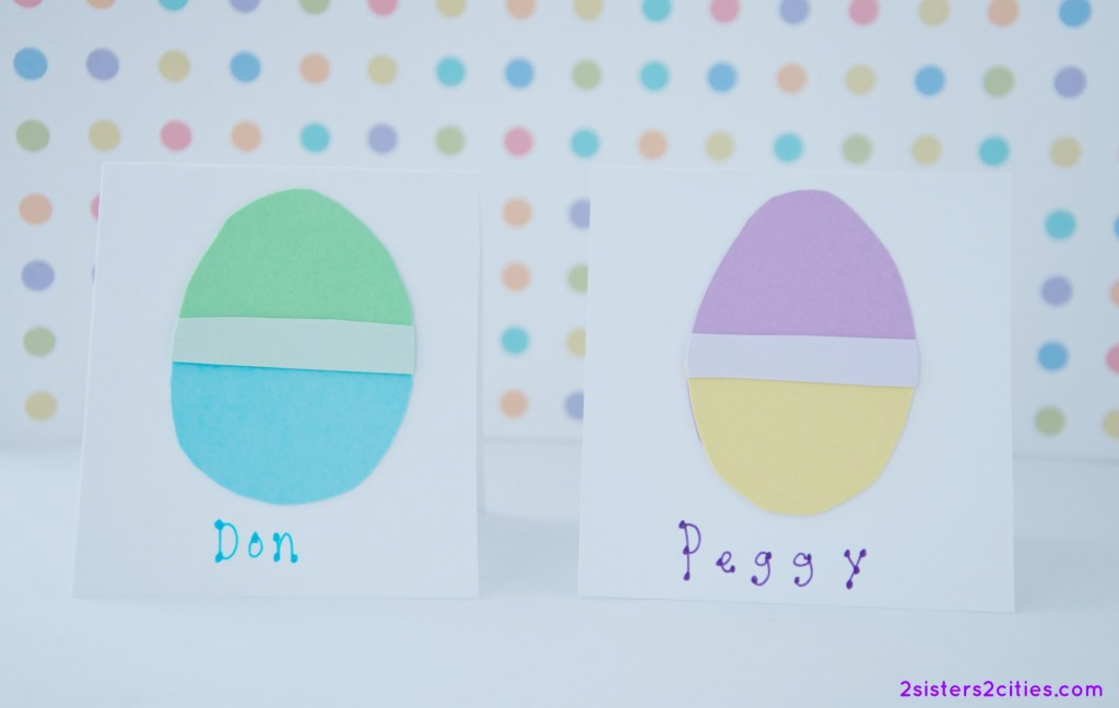 paper eggs place cards