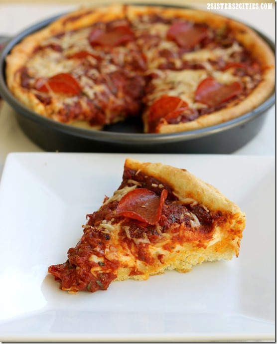 Slice of Deep Dish Pizza