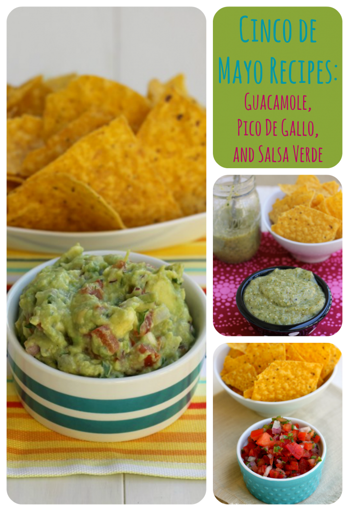 Cinco De Mayo Recipes: Guacamole, Pico De Gallo, and Salsa Verde {from 2 Sisters 2 Cities}